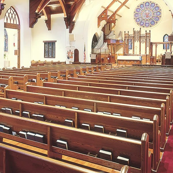 Interior of St. Johns Episcopal Church located in Tampa, FL